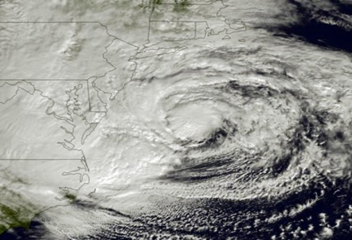 Superstorm Sandy Causes Centers to Move Inland