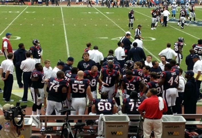 Schaab and Texans Bench